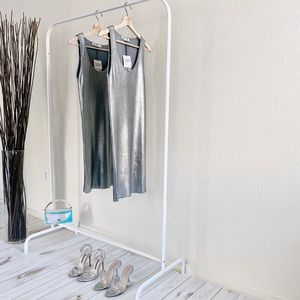 Zara Silver Shiny Mini Dress